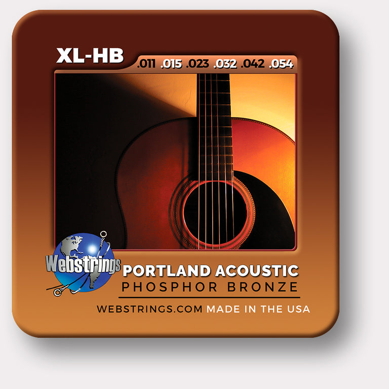 Webstrings Portland Acoustic Phosphor Bronze Acoustic Guitar Strings,  Exceptional Tone and Quality along with long life and the lowest price. Webstrings Portland Acoustic Guitar Strings feel and sound incredible. Webstrings Portand Acoustic guitar strings are an exceptional value. Made in the USA