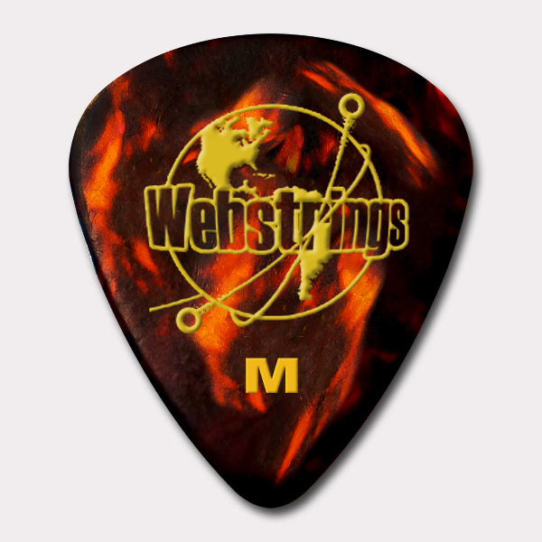 GUITAR PICKS - STANDARD CELLULOID - TORTOISE