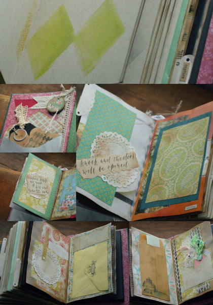 The I Do... Wedding Guest Book | Colorful Lattice Stamping Detail