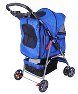 MDOG2 4-Wheel Front & Rear Entry MK0034 Pet Stroller (Blue) - Peazz.com - 6
