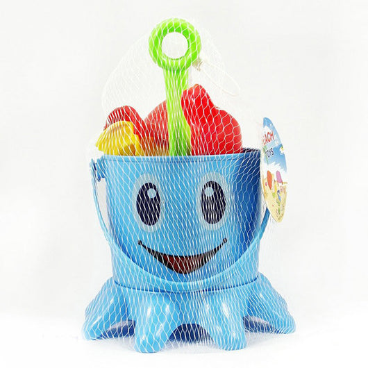 Merske MK10020 Cute 7Pcs Children Octopus Water Seaside Beach & Snow Toy Bucket - 1