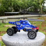 Merske MK10037 RC Helicopter 3.5 Ch Multi-Purpose Flying Fired Missiles Control Driving On Land Car - Blue - 5