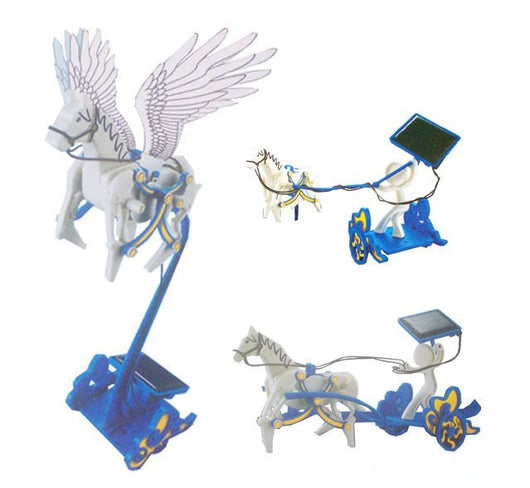 Merske MK10040 Children Sunlight 3 In 1 DIY Solar Robot Pegasus/Flying Horse Kit - 1