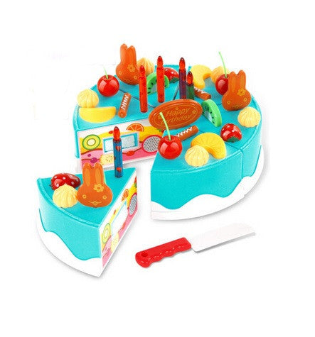 Merske MK10077 DIY Pretend Play Birthday Cake - Blue - 1