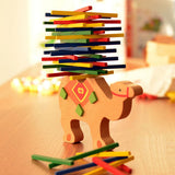 Merske MK10090 Educational Elephant or Camel Balancing Blocks Wooden Toy - Assorted - 2