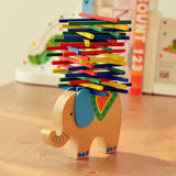 Merske MK10090 Educational Elephant or Camel Balancing Blocks Wooden Toy - Assorted - 1