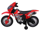 "Angry Birds ""Red"" 6V Battery Operated Kids Ride On Dirt Bike - Red"