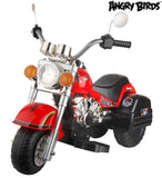 "Angry Birds ""Red"" 6V Battery Operated Kids Chopper Style Ride On Motorcycle - Red"