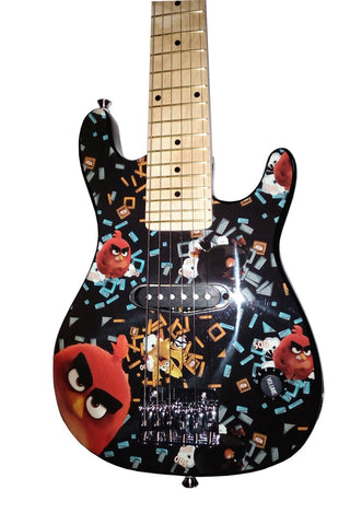 angry birds flock on 30 electric guitar set with 5w amplifier black. Black Bedroom Furniture Sets. Home Design Ideas