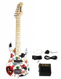 "Berry Toys MKAGT30-ST3-BLK 30"" Electric Guitar Set with 5W Amplifier, Cable, Strap, Picks - Black"
