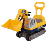 Angry Birds Ride-on 6-Wheel Bulldozer with Back - Yellow