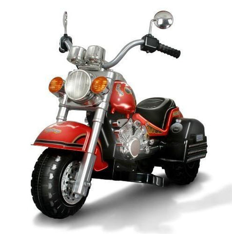 Harley Style Kid's Chopper Style Motorcycle - Red - Peazz.com