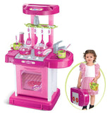 Berry Toys BR008-56 Play & Carry Plastic Play Kitchen - Pink - Peazz.com