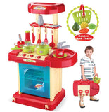 Berry Toys BR008-56A Play & Carry Plastic Play Kitchen - Red - Peazz.com