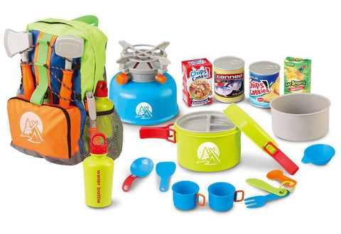 Berry Toys BR008-80B Little Explorer Camping Backpack Cooker 13-Piece Play Set - Peazz.com