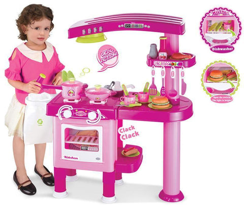 Berry Toys BR008-82 My First Play Kitchen - Pink - Peazz.com