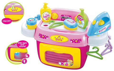 Berry Toys BR008-92 My First Portable Chores Washing Machine Play Set - Peazz.com