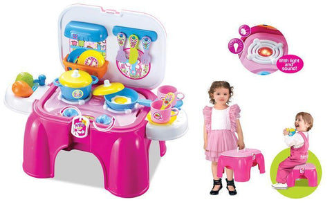Berry Toys BR008-93 My First Portable Play & Carry Kitchen/Bench Play Set - Peazz.com