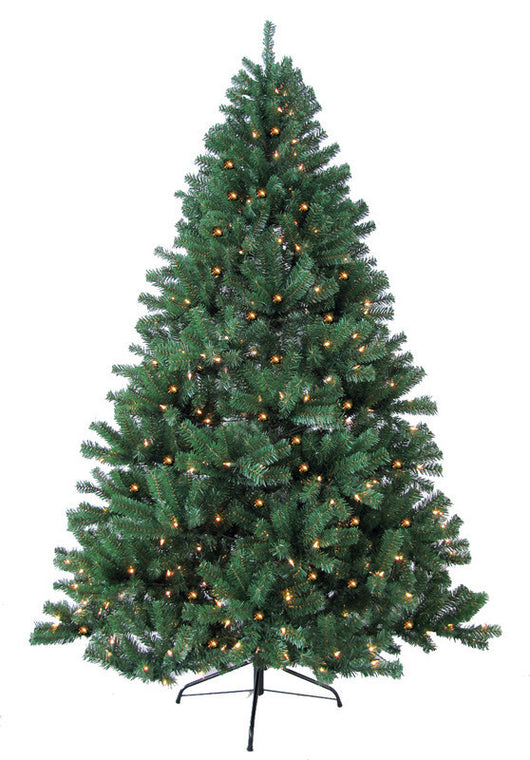 Jolly Workshop JW-WS07 7' Prelit Artificial Woodriff Spruce Tree 500 Warm Lights, 1325 Tips With Metal Stand