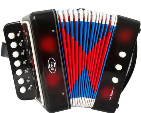 Berry Toys MKAG-KA2BS-BLK Kids Junior Accordion - Black - Peazz.com