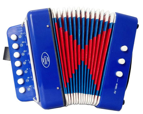Berry Toys MKAG-KA2BS-BLU Kids Junior Accordion - Blue - Peazz.com