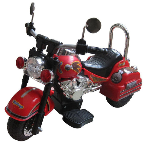 Harley Style 6V Battery Operated Kids Motorcycle (Red) - Peazz.com