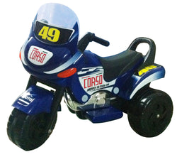 Mini Racer Battery Operated Kids Motorcycle (Blue)