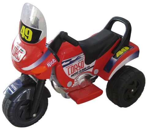 Mini Racer Battery Operated Kids Motorcycle (Red)