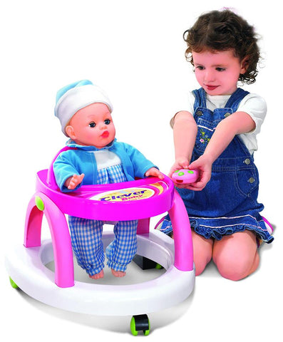 Berry Toys BR008-07 Infrared Clever Baby Doll Walker with Remote - Peazz.com