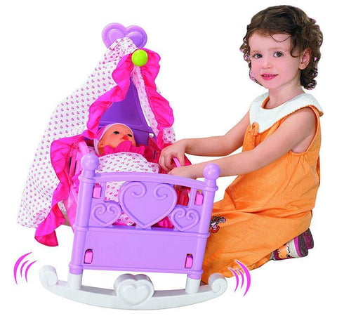 Berry Toys BR008-09 Babies Rocking Doll Cradle - Peazz.com