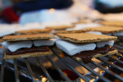 S'mores Cooked on Grilling Tables