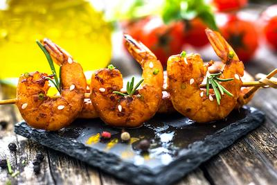 Zesty Grilled Shrimp For Your Table Grill
