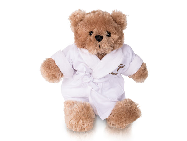 Teddy bear in robe