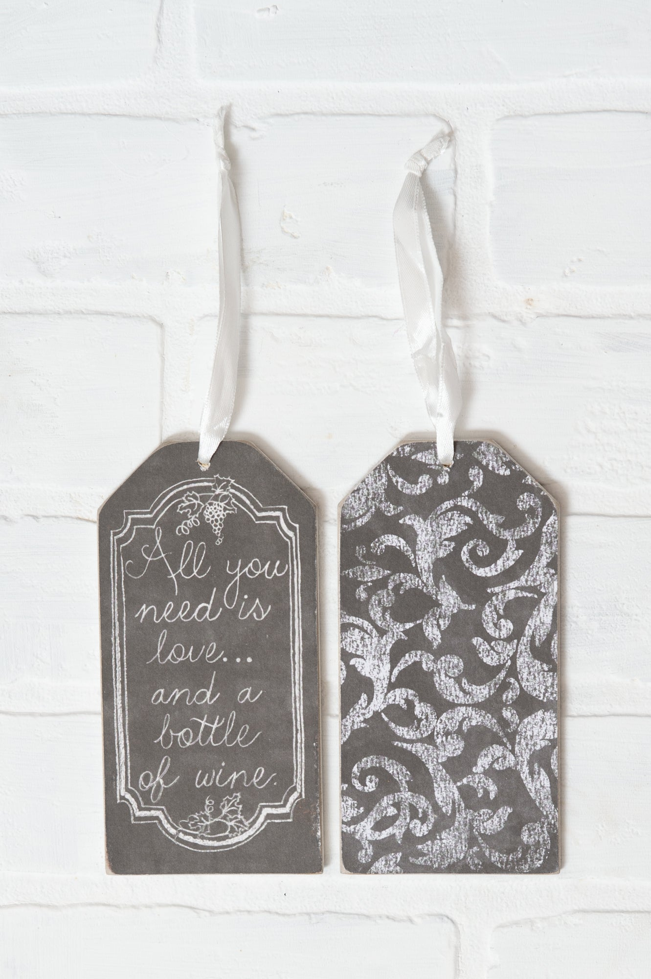 All You Need Is Love and wine bottle tag