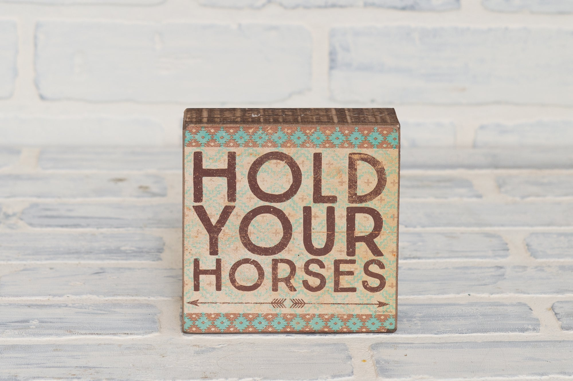 Hold Your Horses Box Sign