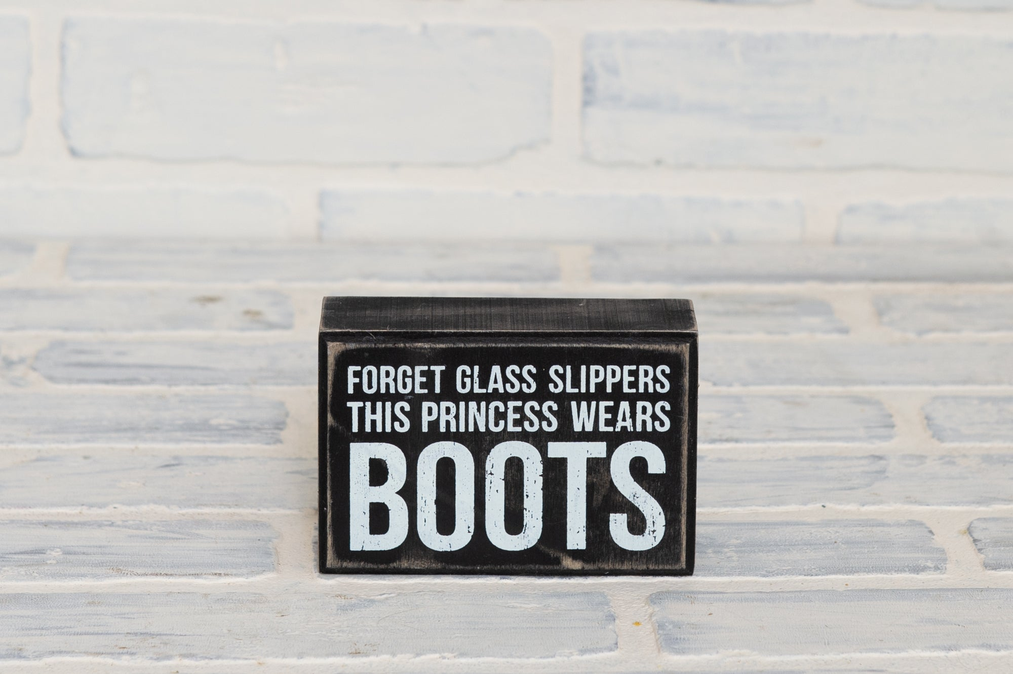 This Princess Wears Boots Box Sign
