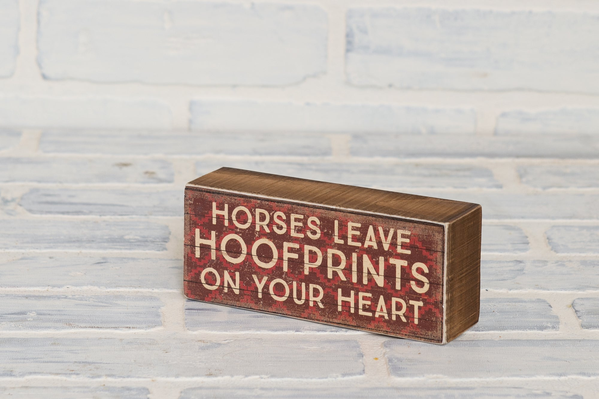 Hoofprints Box Sign