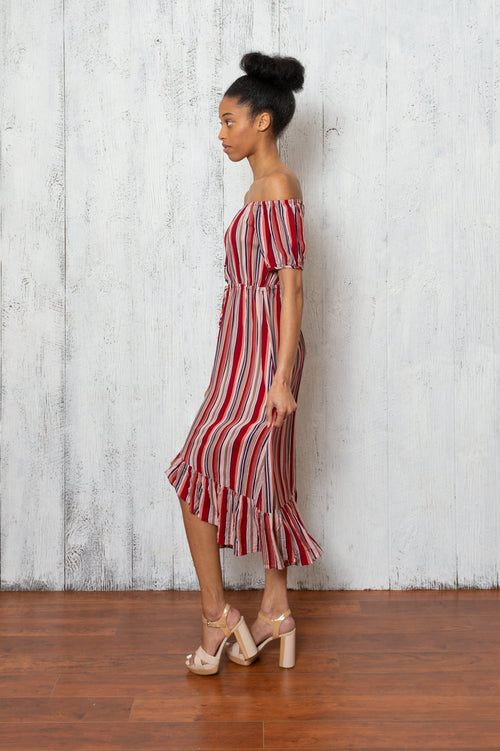 Camilla Red Striped Dress