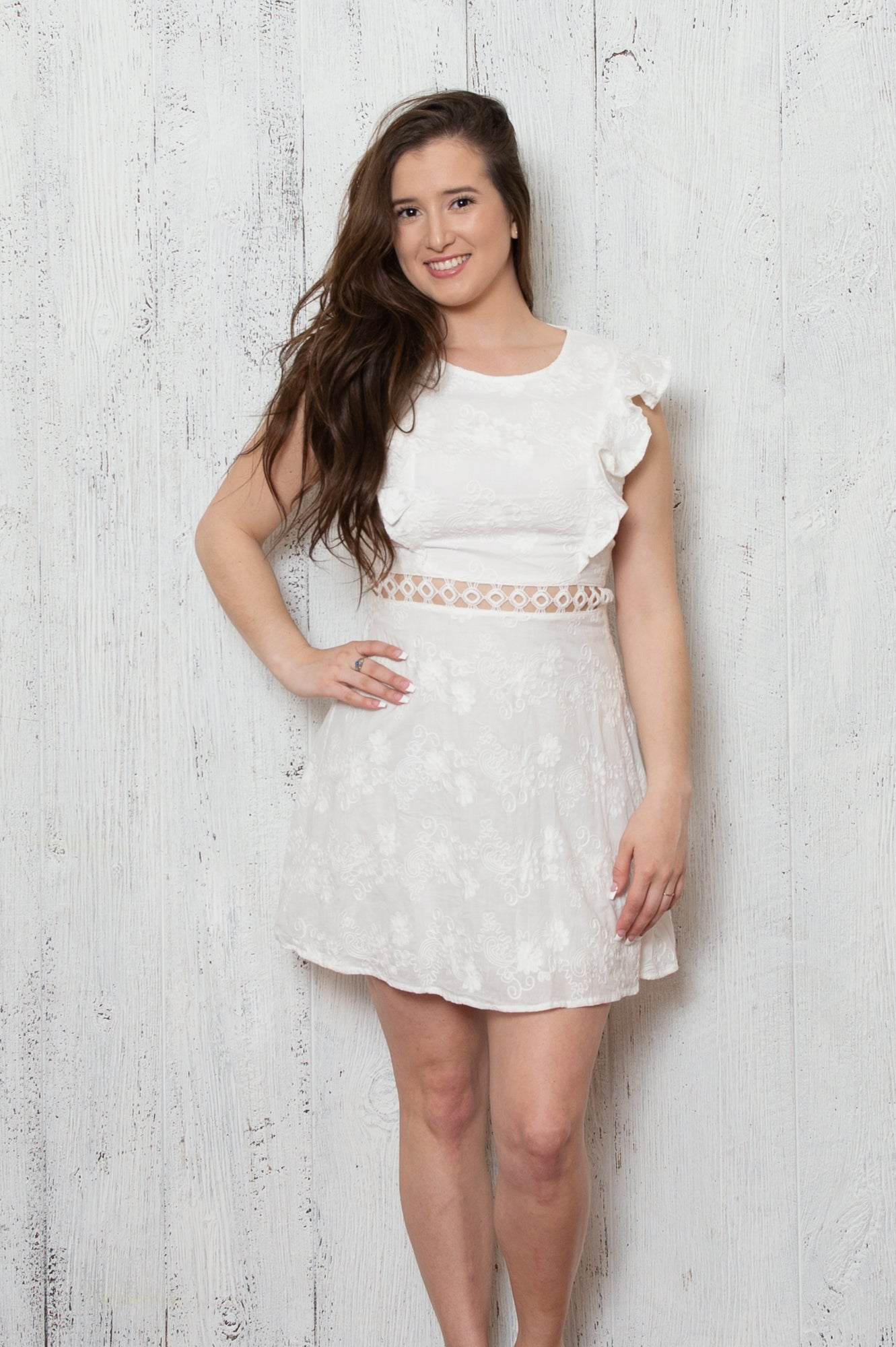 Tina Ruffle Dress