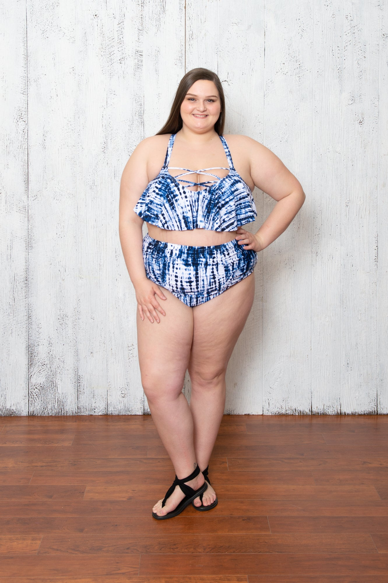 Cammy Tankini In Blue Swirl
