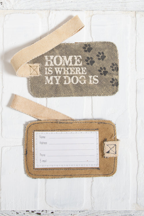 Home Is Where The Dog Is Luggage Tag