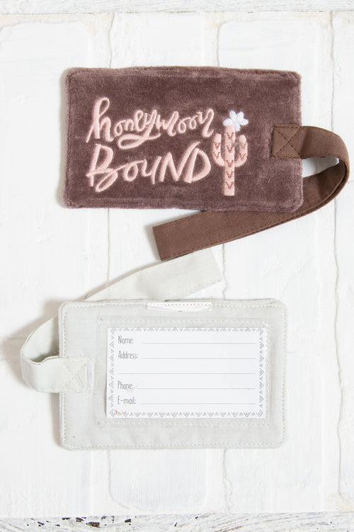 Honey Moon Bound Luggage Tag