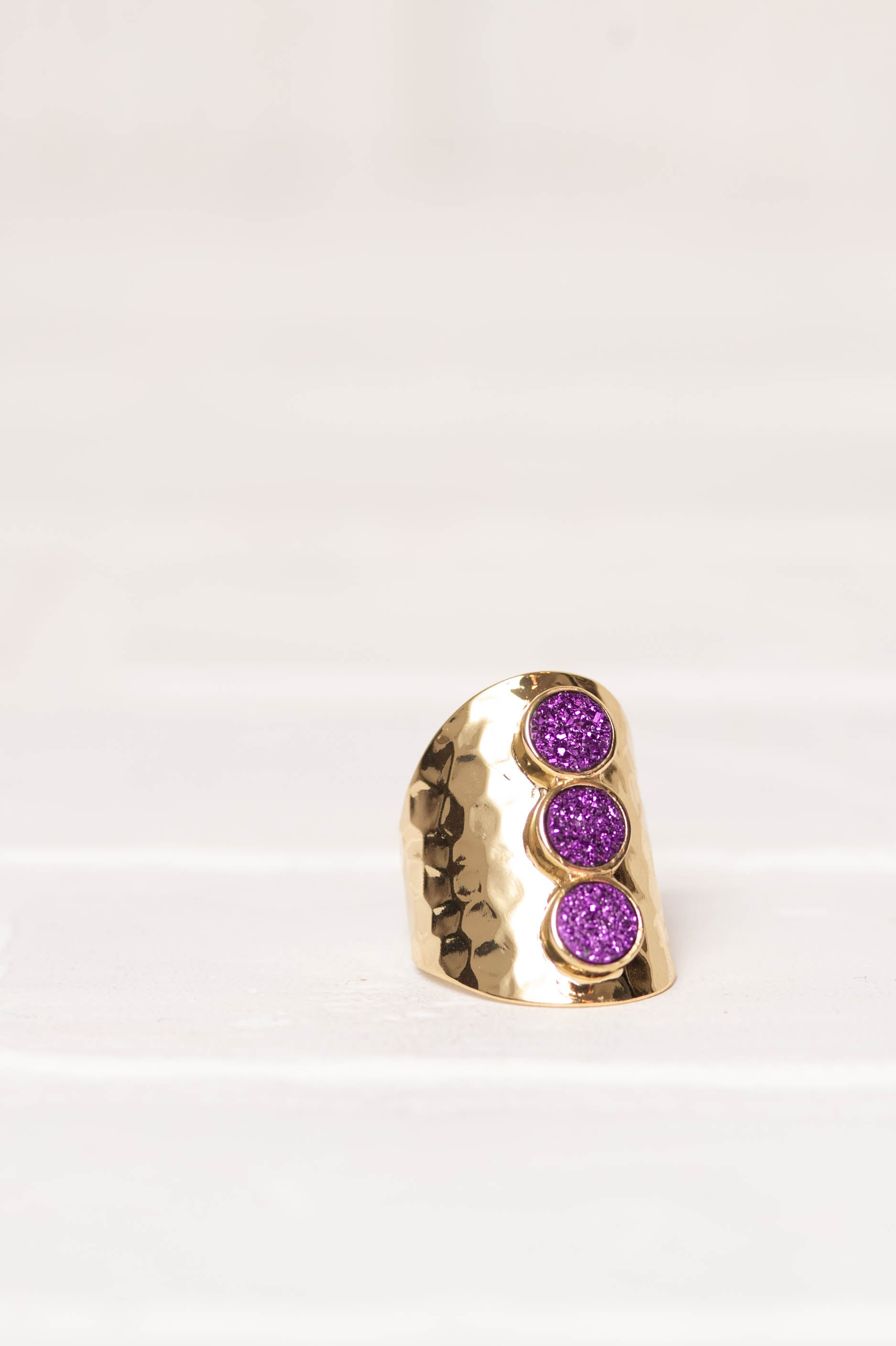 Passion Chunk Ring in Deep Purple