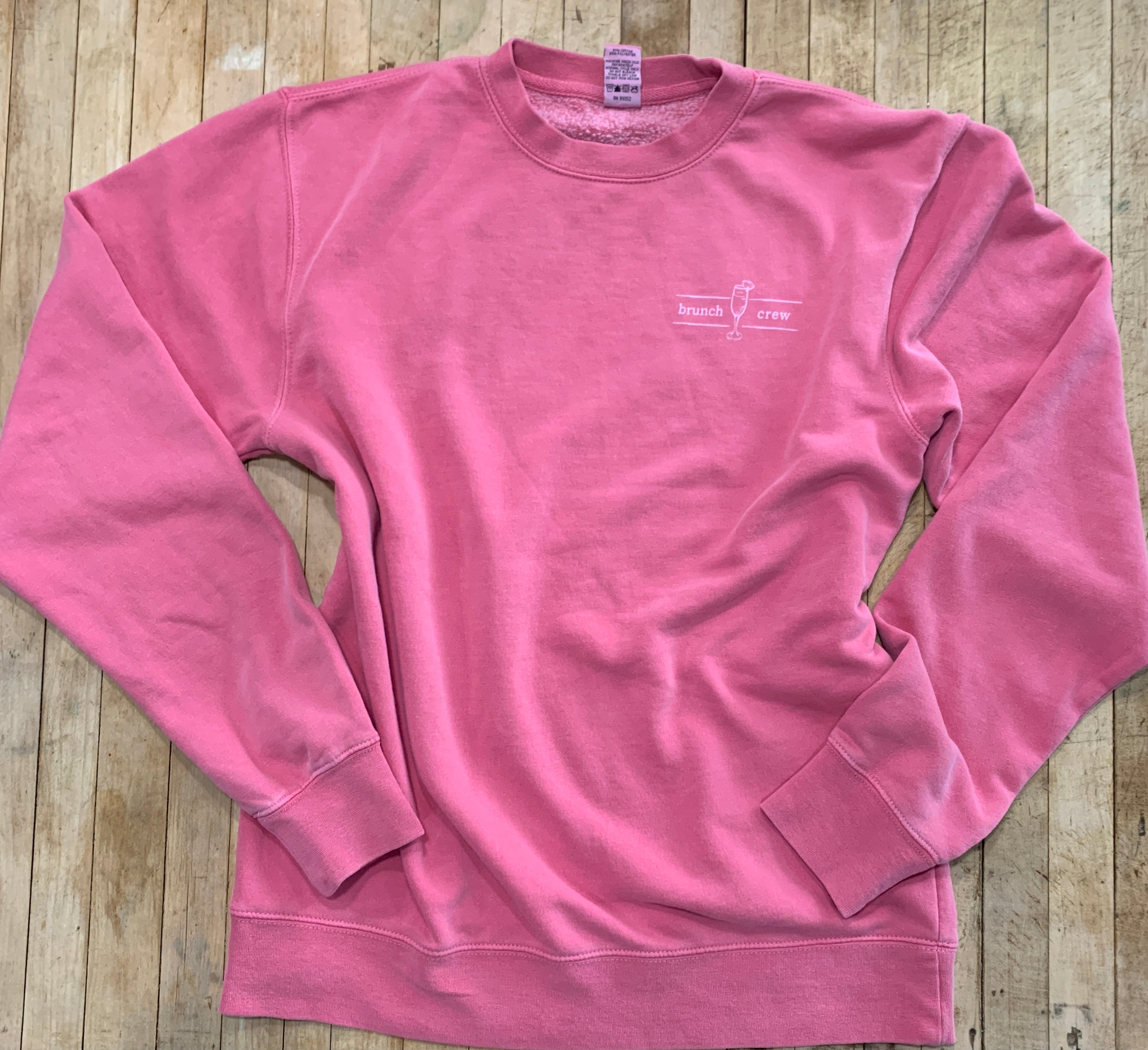 Brunch Crew Crewneck in Pink