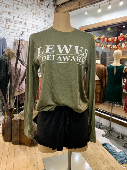 Lewes Delaware Block Long Sleeve Tee