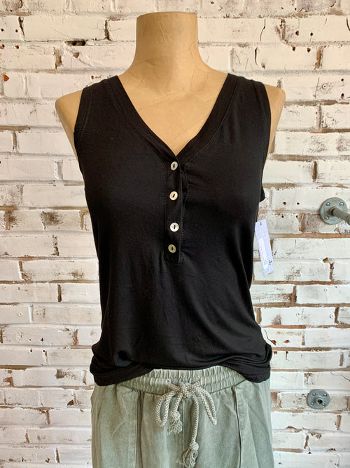 Joey Sleeveless Tank in Black