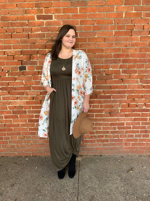 Bailey Maxi Dress in Olive