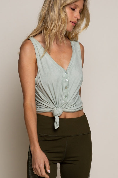 Joey Sleeveless Tank in Dusty Sage