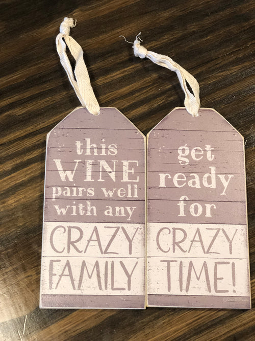 Crazy Family Bottle Tag