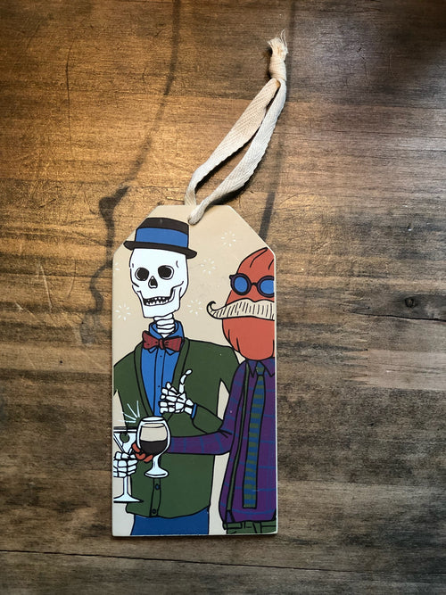 Trick or Drink Bottle Tag